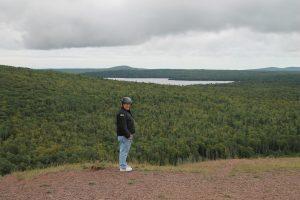 Al at the top of Brockway Mountain
