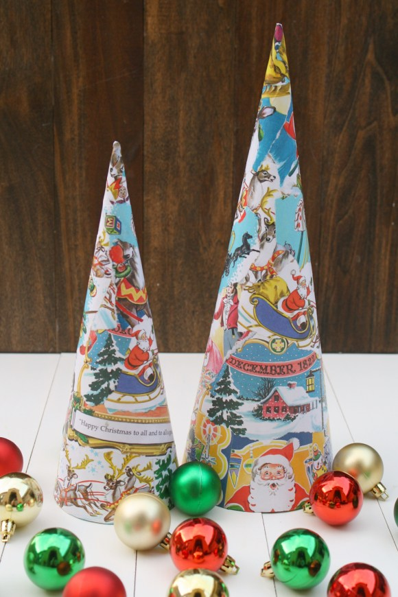 Vintage Book Christmas Trees