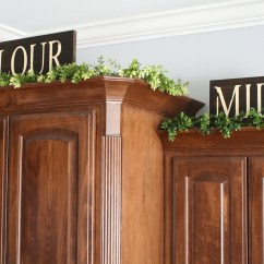 Greenery Above Kitchen Cabinets Modern Cabinet Doors Diy Food Signs