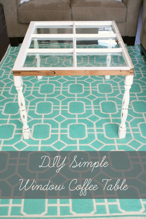 DIY Simple Window Coffee Table