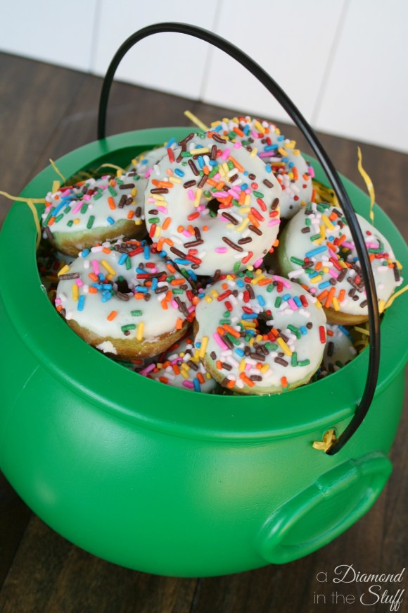 St Patrick's Day Mini Donuts
