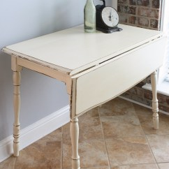 Drop Leaf White Kitchen Table Under Cabinet Led Lighting Vintage