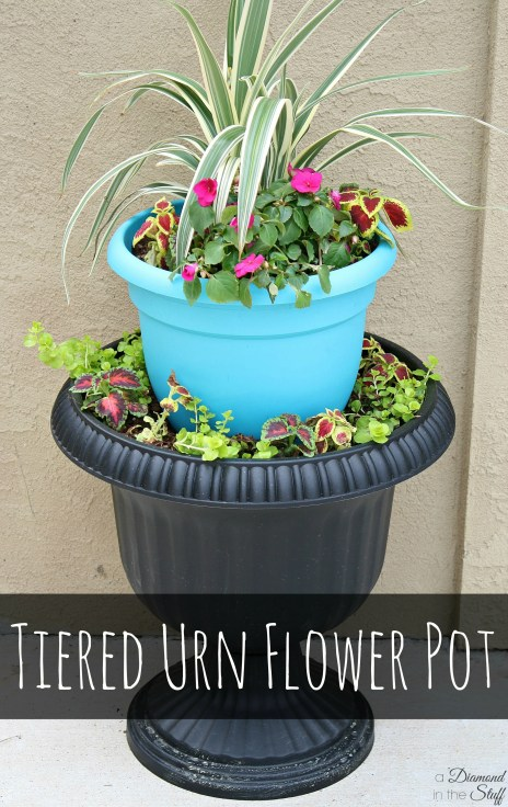 Tiered Urn Flower Pot