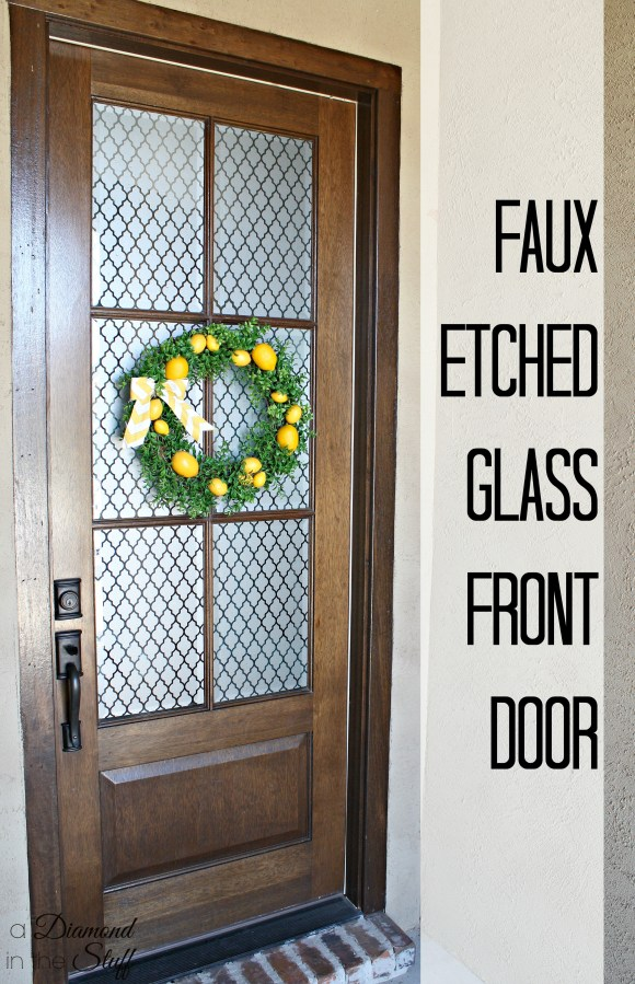 Faux Glass Etched Front Door