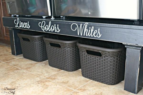 Washer and Dryer Pedestal DIY