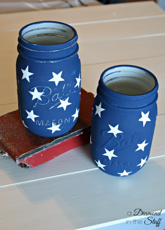 Mason Jar Flag {Tutorial}