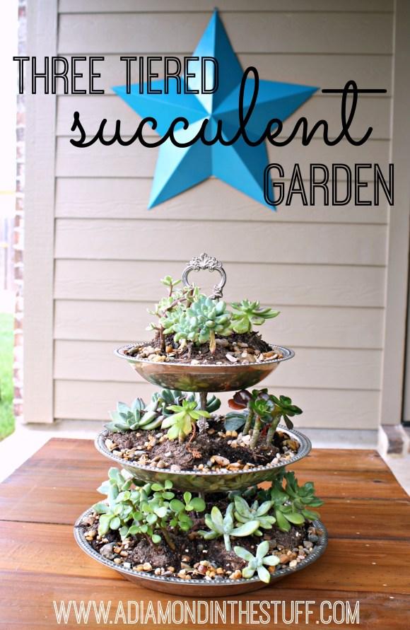 Three Tiered Succulent Garden
