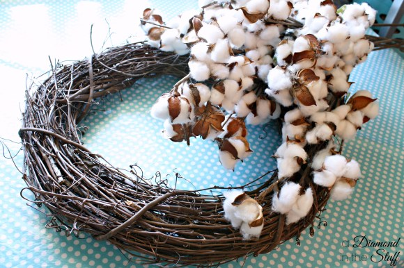 Cotton Boll Wreath {Tutorial}