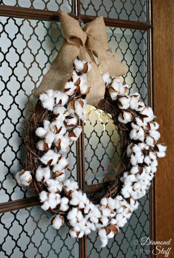 Cotton Boll Wreath {Tutorial}