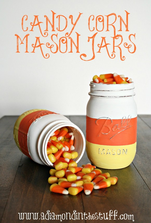 DIY Candy Corn Mason Jars