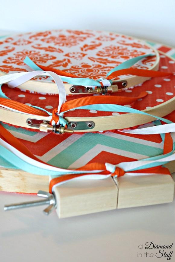 Embroidery Hoop Pumpkins