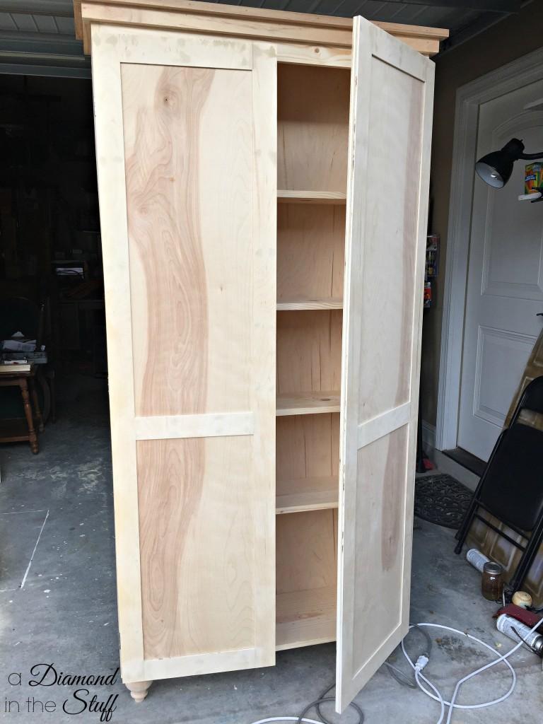 DIY Aqua Storage Cabinet