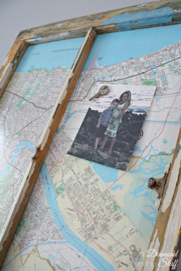 Magnetic Map Window {memo board} | A Diamond in the Stuff