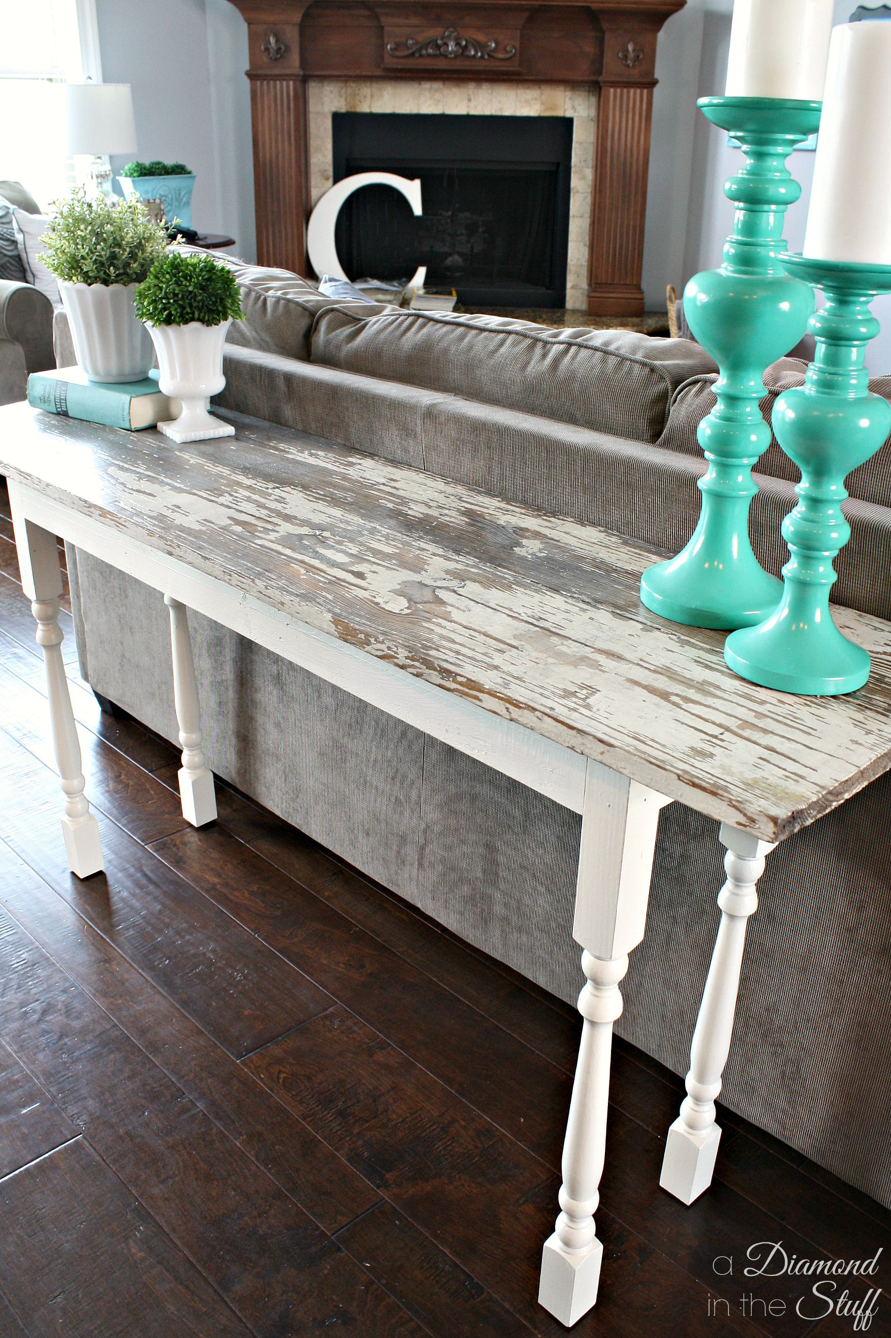 building a sofa table thomasville furniture sectional sofas diy salvage