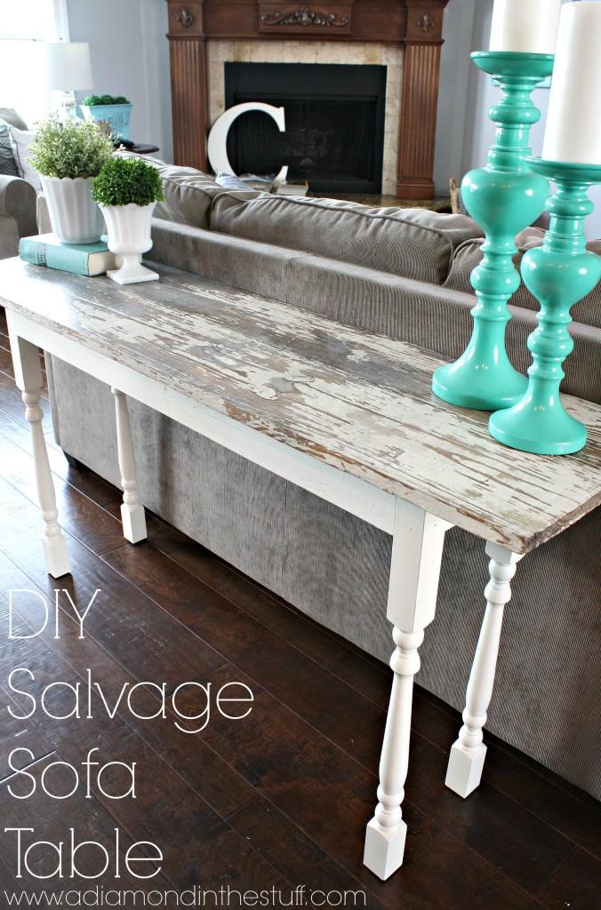 DIY Salvage Sofa Table  A Diamond in the Stuff  Bloglovin