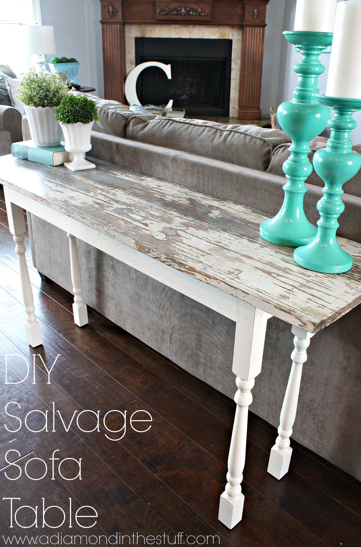 easy sofa table diy chaise sofas salvage