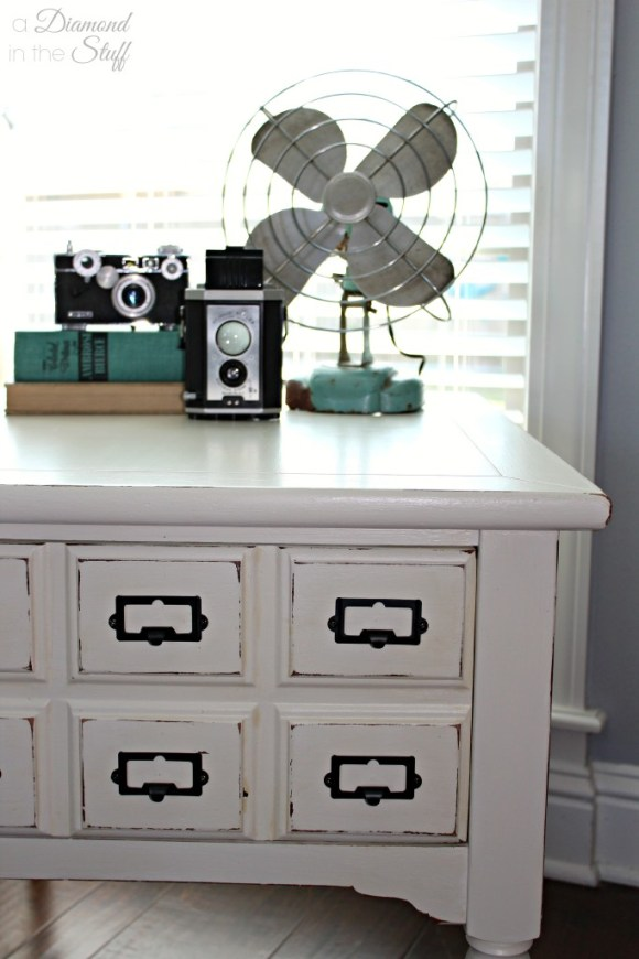 Faux Card Catalog Side Table | A Diamond in the Stuff