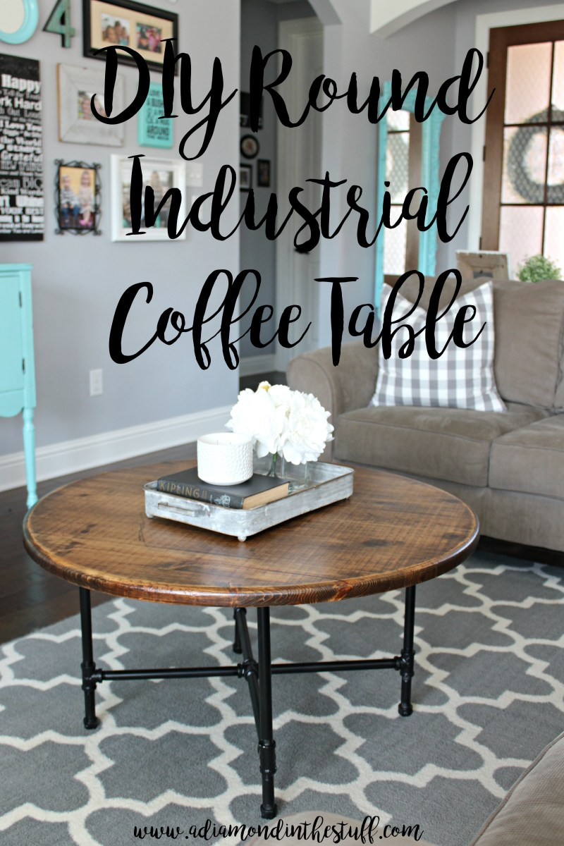 Do It Yourself Divas Diy Kitchen Table Makeover: DIY Round Industrial Coffee Table