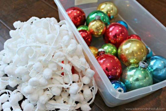 Vintage Ornament Garland   A Diamond in the Stuff