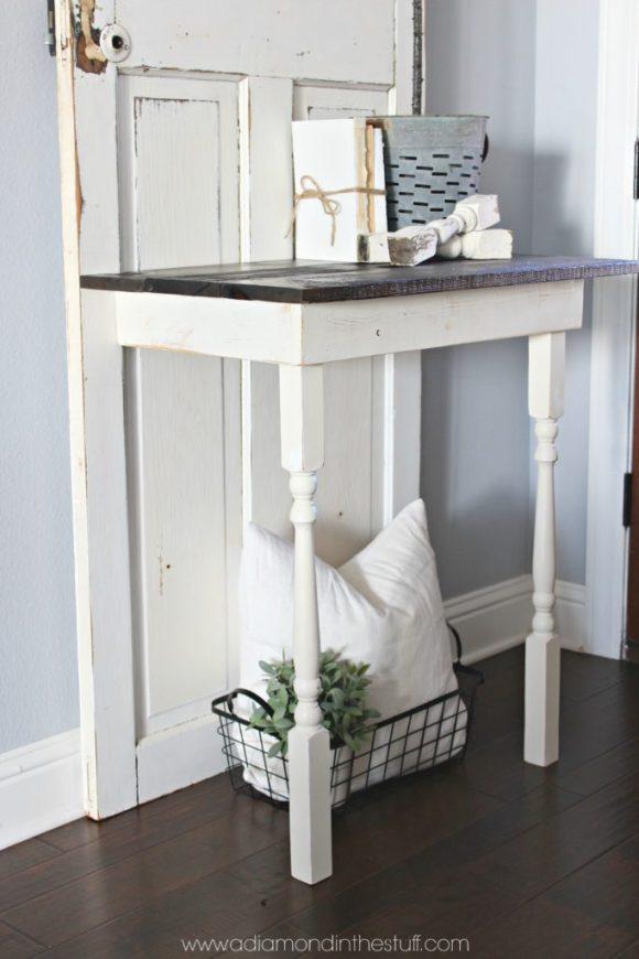 salvaged door entry table. Black Bedroom Furniture Sets. Home Design Ideas