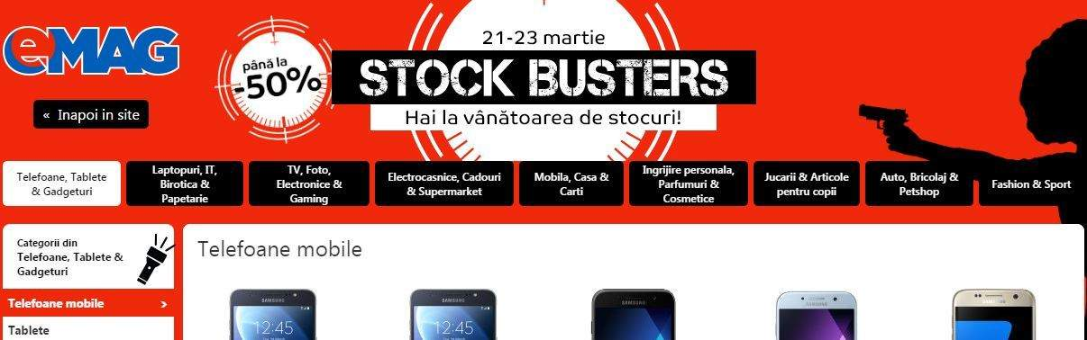 stock busters reduceri emag