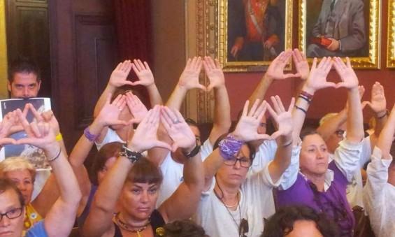 triangulo de la manifestación