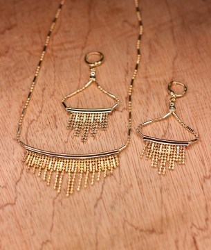 Gold Palette Necklace