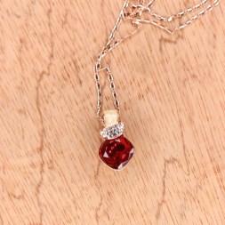 Rose Gold Palette zircon stone Necklace