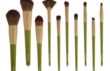 Maange 10pcs Green Makeup Brush
