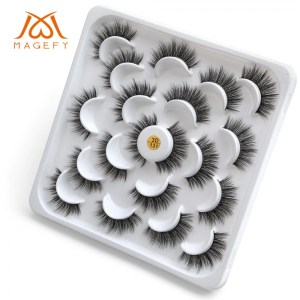 Magefy 10 Pair 3D Faux Mink Eyelashes