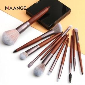 Maange 11pcs wood brush Set