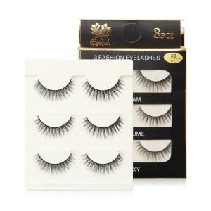 MAGEFY 3 pairs false 3D mink eyelashes