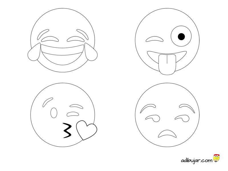 Los 4 Emojis Ms Usados En Whatsapp Para Colorear 800x600