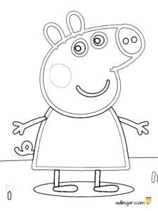 Dibujos Para Colorear A Peppa Pig Imgenes Para Imprimir