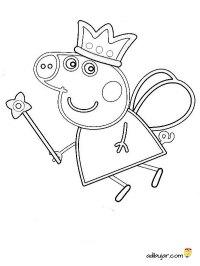 Peppa Pig para colorear hada | adibujar.com