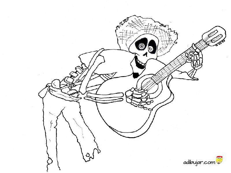 Coco Imagen Para Colorear De Hector De La Pelicula Disney