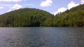 the dam reservoir trei Ape