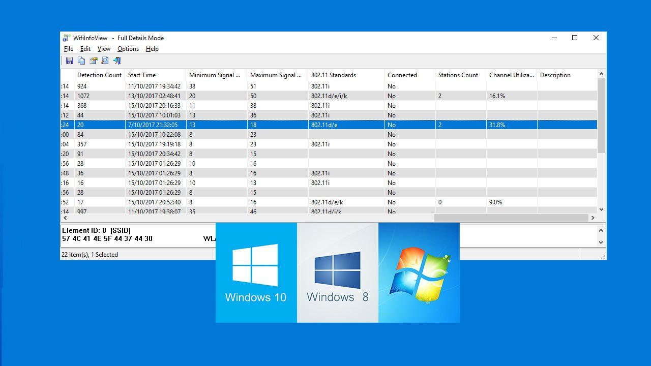 WifiInfoView Una gran herramienta WiFi para Windows
