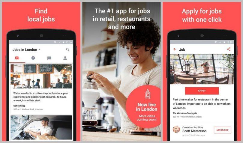 aplicación android para buscar Trabajo
