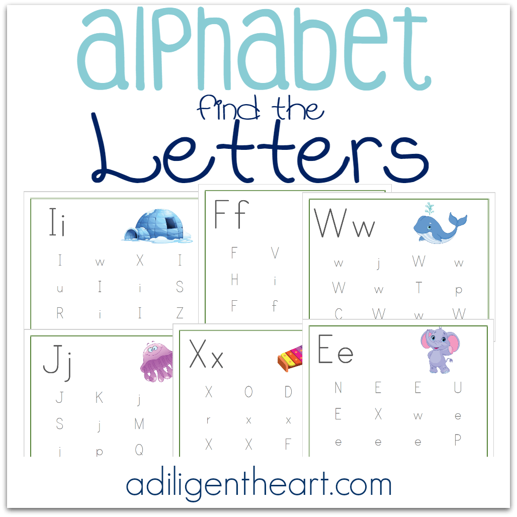 Alphabet Find The Letters