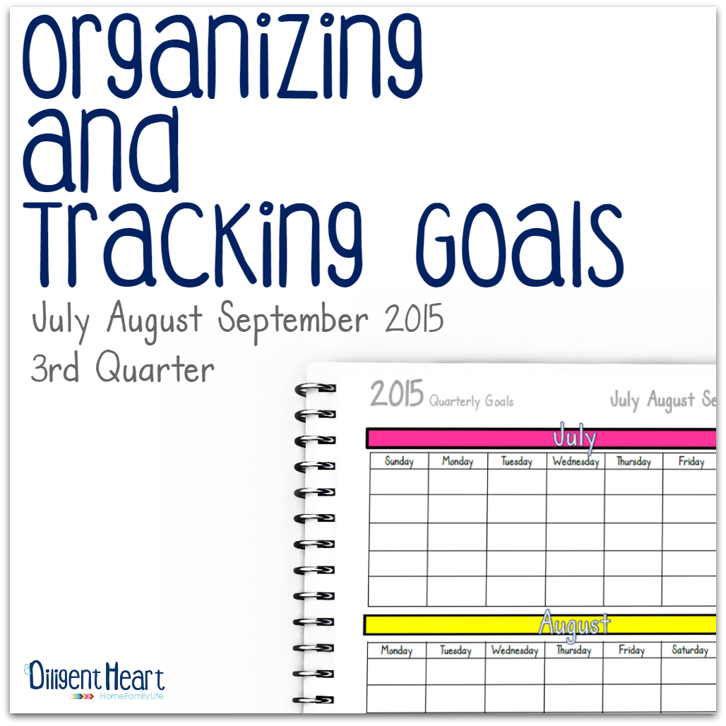 Organizing And Tracking Goals 3rd Quarter
