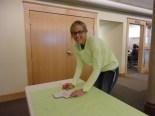 Nursing students from UND came to help, too! Meet Mckenzie :)
