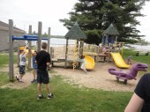 NJ Hammers and GA Hammers make a total of 11 children playing at the park :)