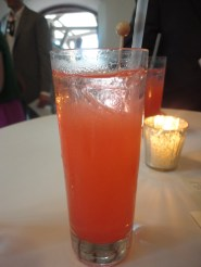 pink lemonade, vodka and pink rock candy. Absolutely packed with sugar, absolutely delicious.