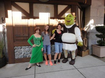 At Universal with Fiona and Shrek