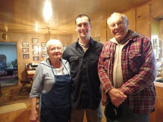 J with his lovely grandparents.
