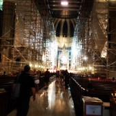 renovation inside St Pat's.