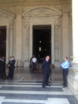 A rare treat: timing had it that we got to see the Pope's doors open (ONLY the Pope walks through the center doors of St Peter's) and go into St Peter's when only security/staff were inside. We had the place to ourselves for about 10 minutes!