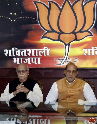 """L K Advani and Rajnath Singh  """"Do they look Confident"""""""