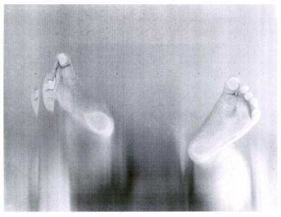 """August feet, photocopy, 8.5"""" x 11"""", 2016"""